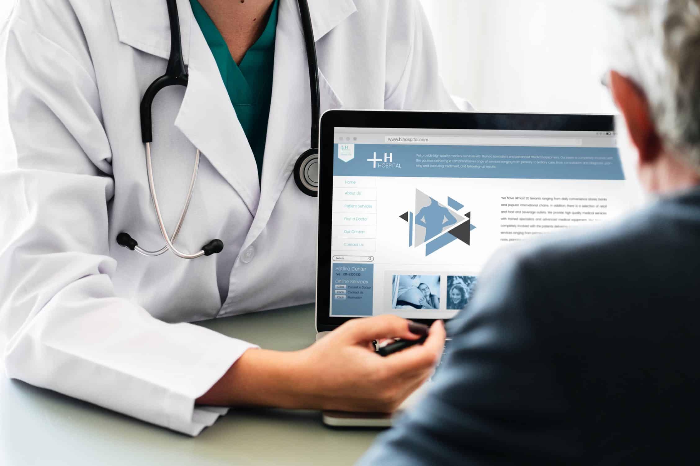 doctor giving advice through app