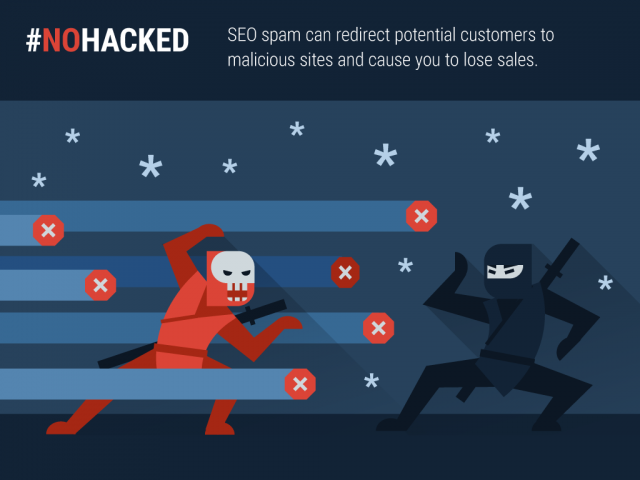 NoHacked graphic about SEO spam