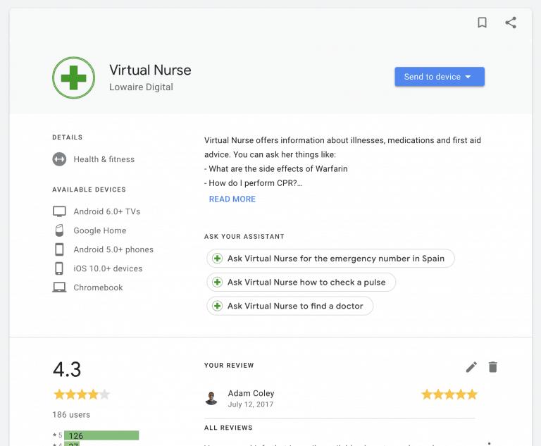 virtual nurse google ranking
