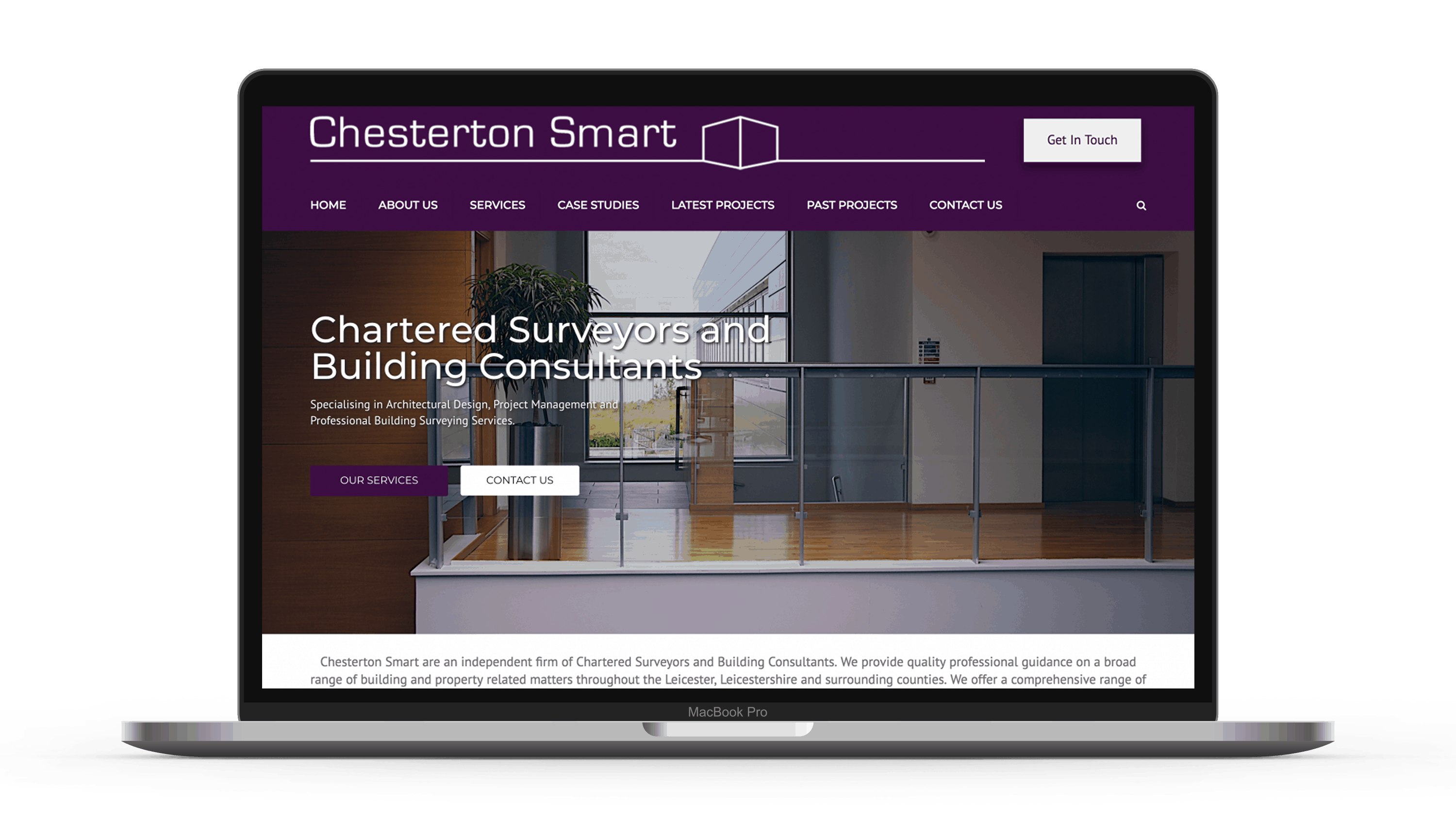 chesterton smart web design on macbook