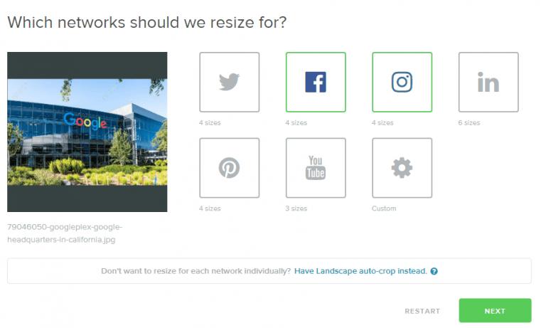 social media image resizer app