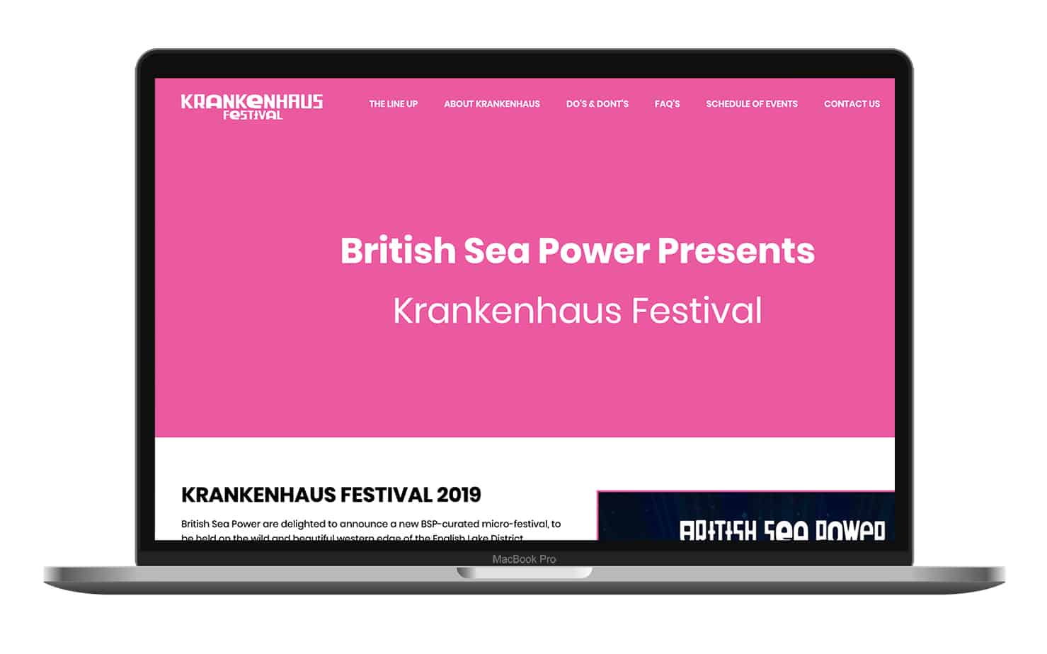 Krankenhaus festival website design project