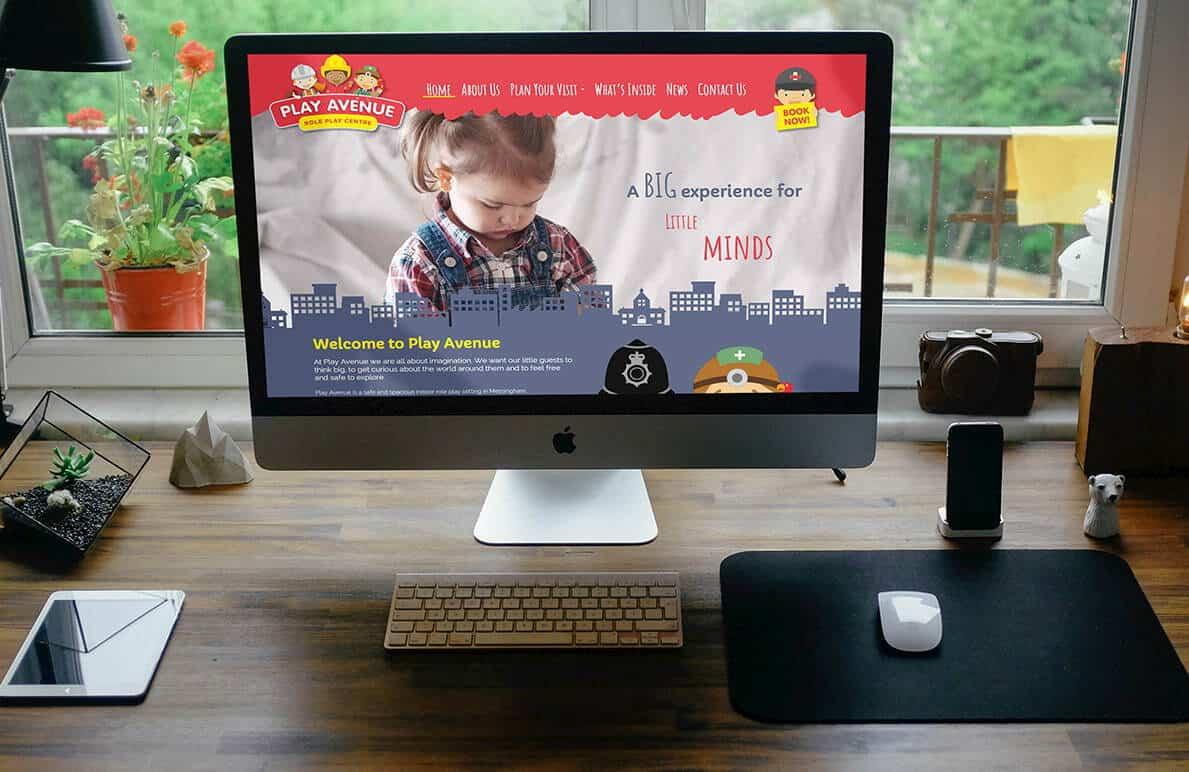 Play Avenue website design project