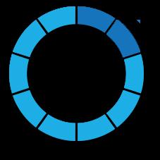percentage circle blue portfolio