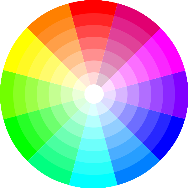 spinning colour wheel