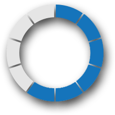 percentage circle results dark blue