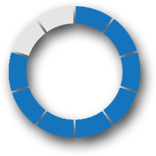 percentage circle in blue