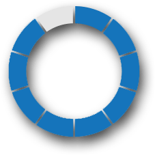 dark blue percentage circle