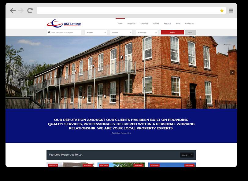 AST lettings portfolio website design