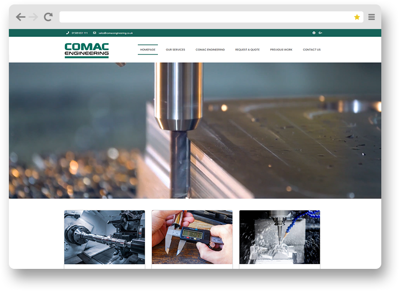 comac website design project