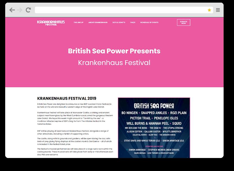 krankenhaus website design