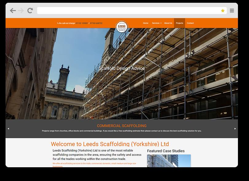leeds scaffolding website design