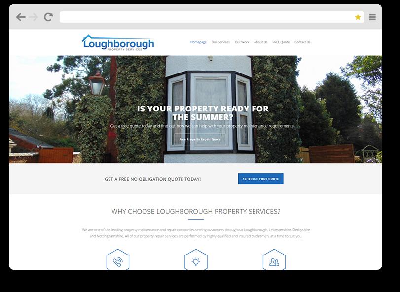 loughborough property website design