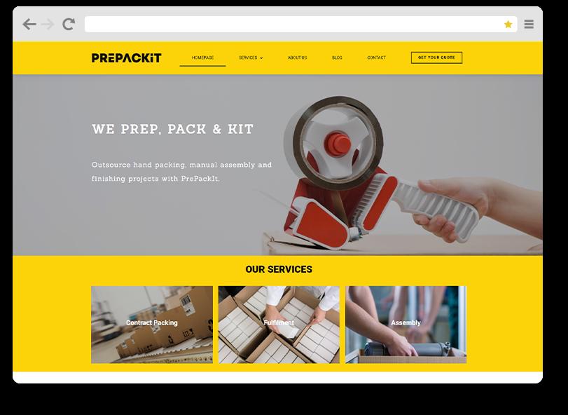 prepackit web design portfolio