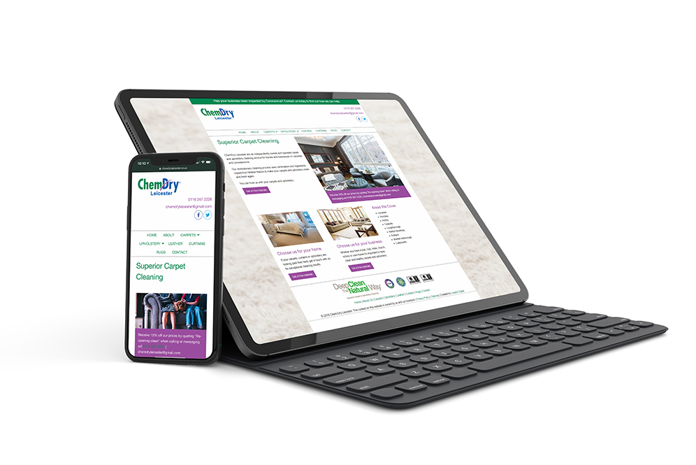chemdry website design portfolio
