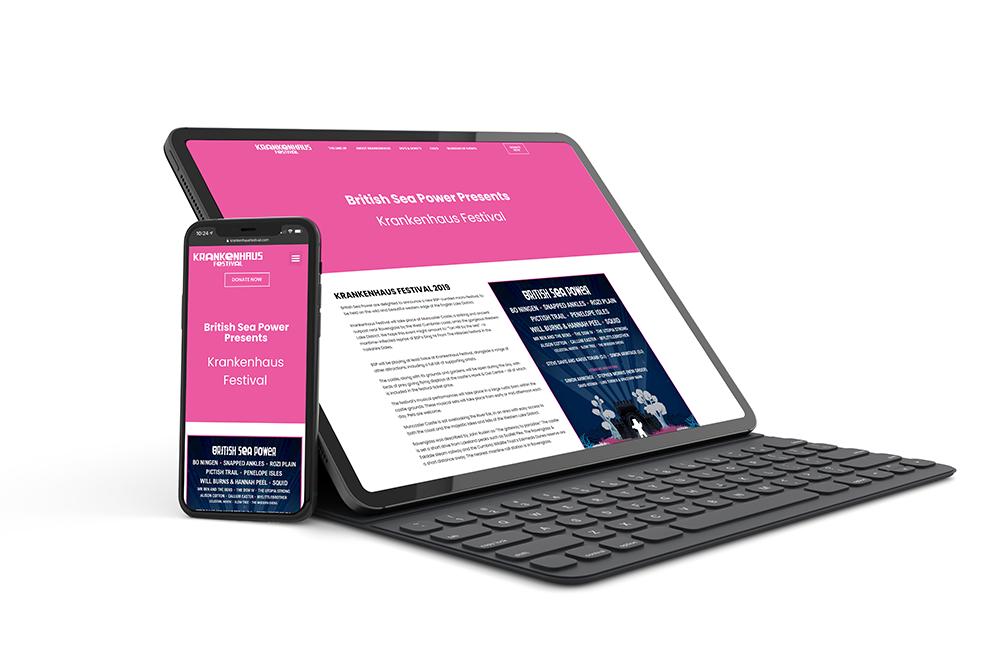 krankenhaus website design project