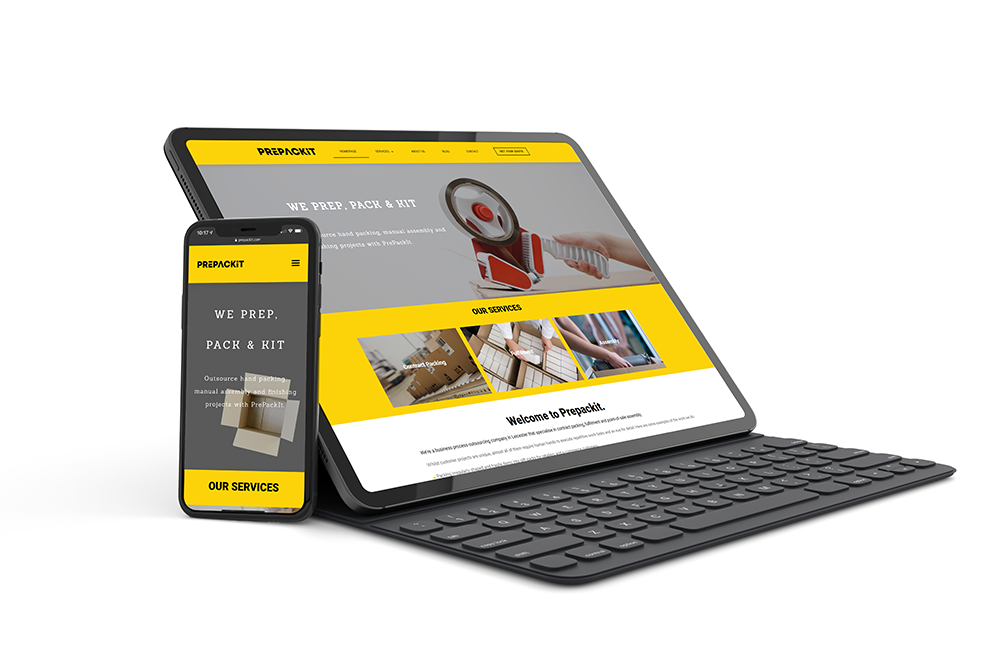prepackit website design project