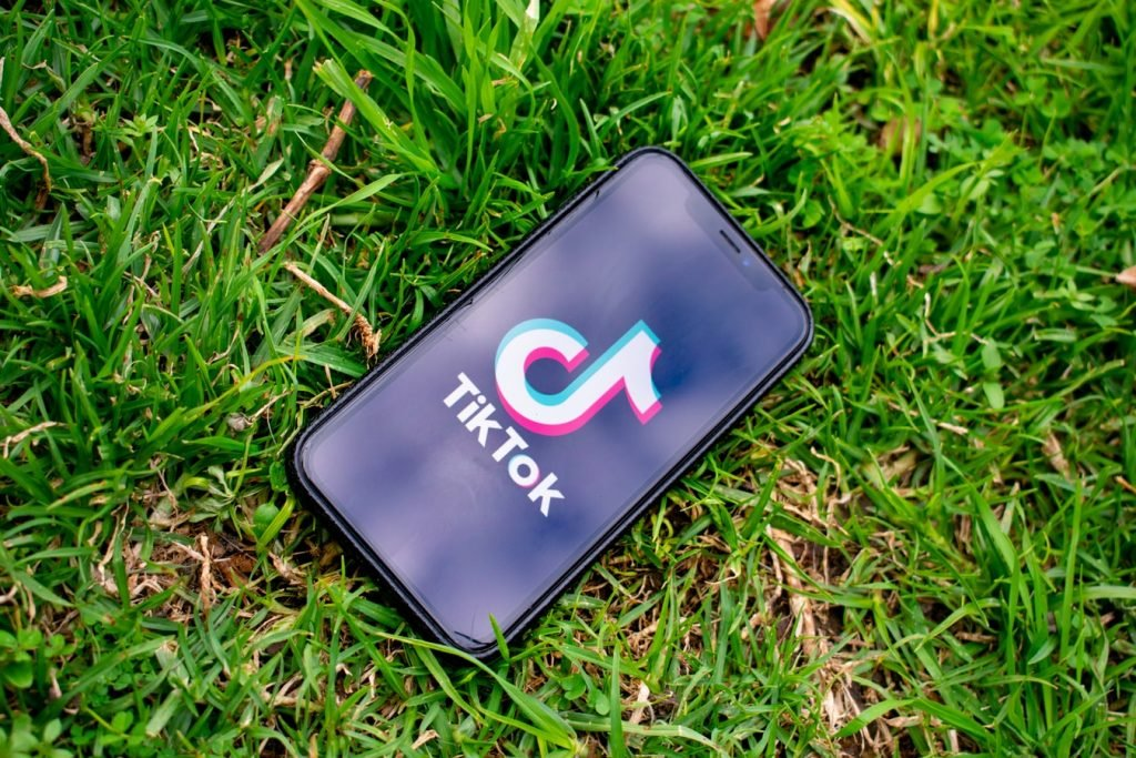 TikTok Phone On Grass