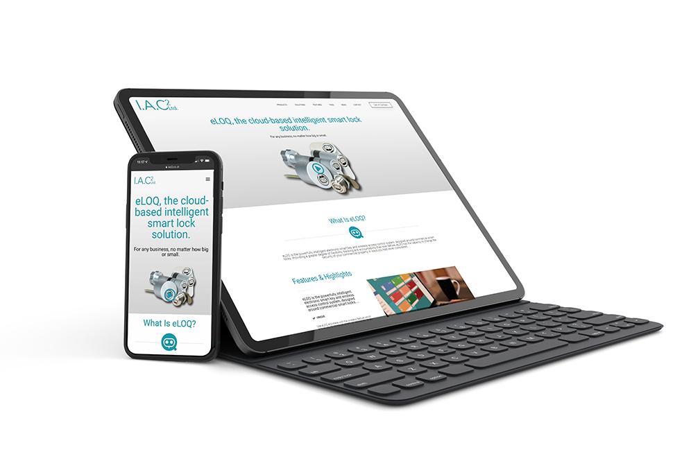 IAC2 website design project portfolio