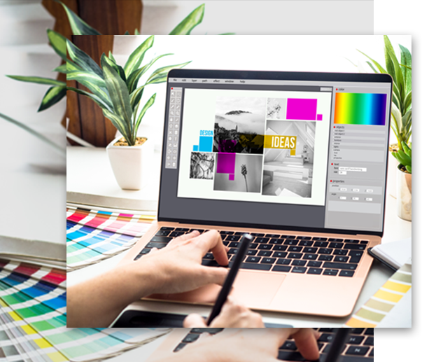 graphic designer on laptop