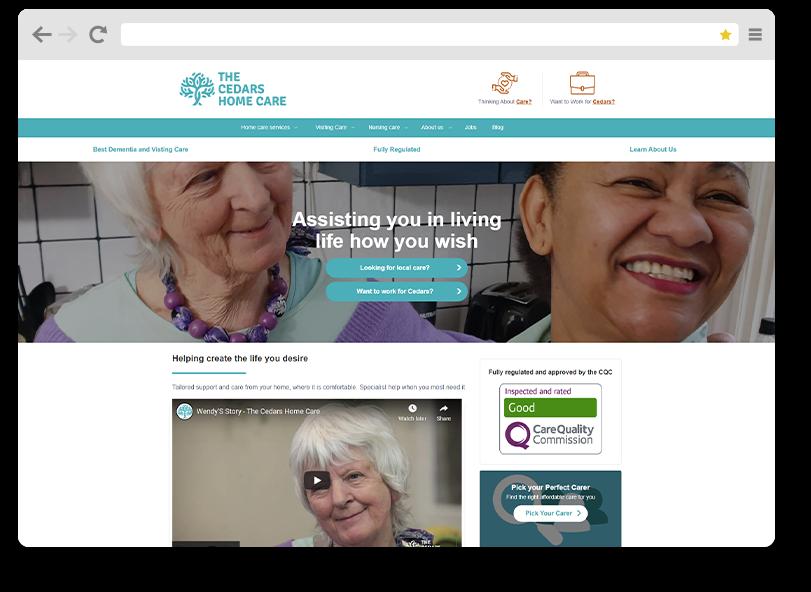 cedar health website organic seo