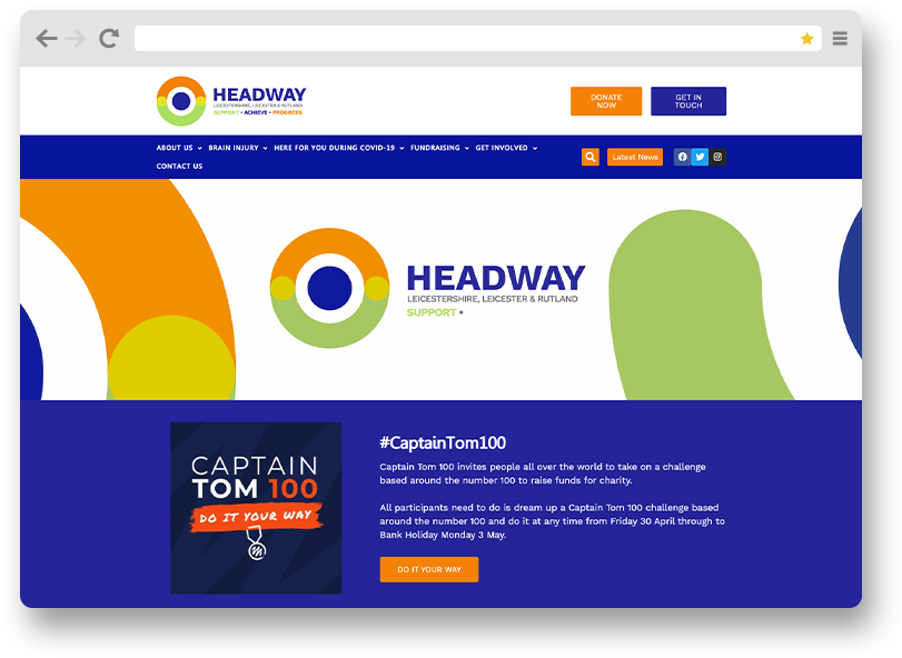 headway Leicester web site project