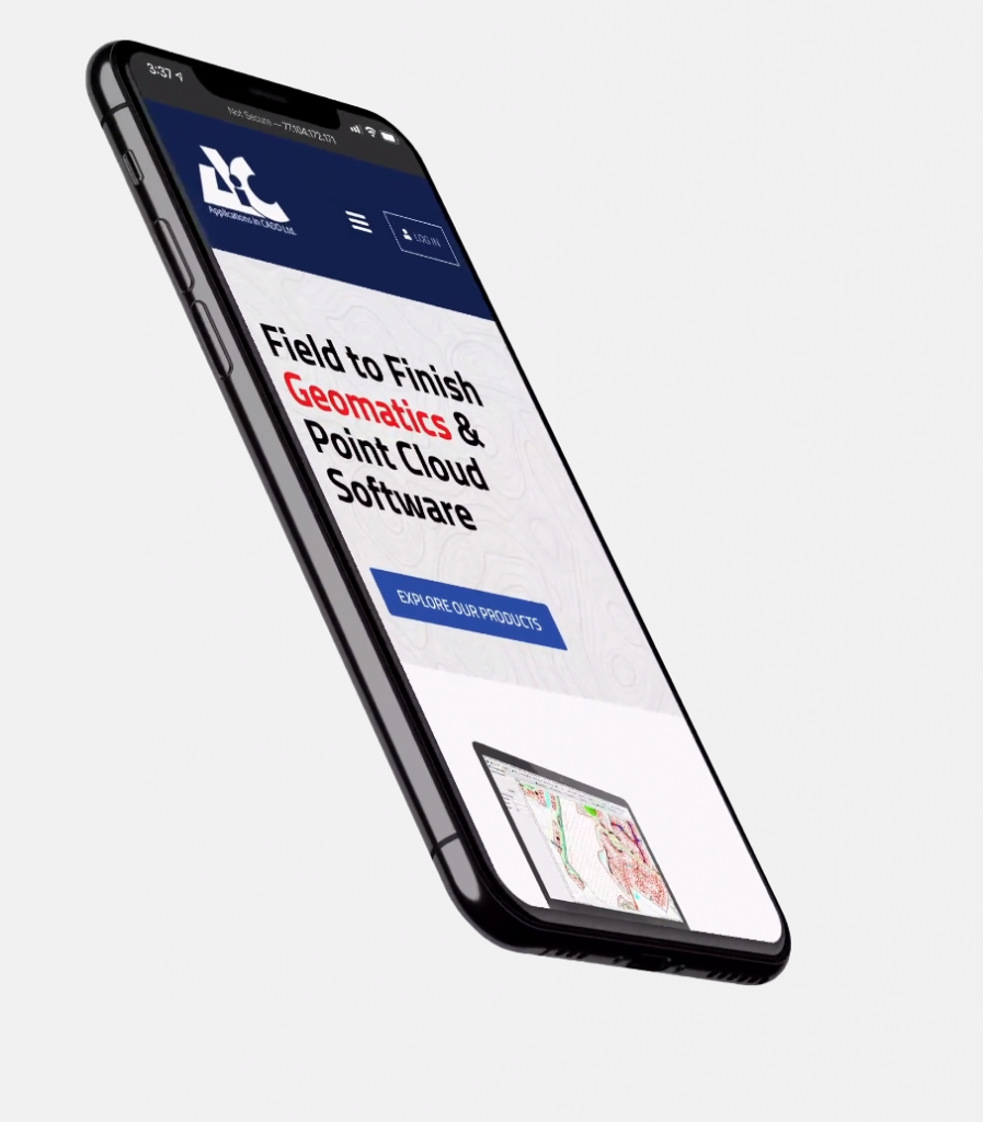 Side view of an Iphone with a website displayed on its screen