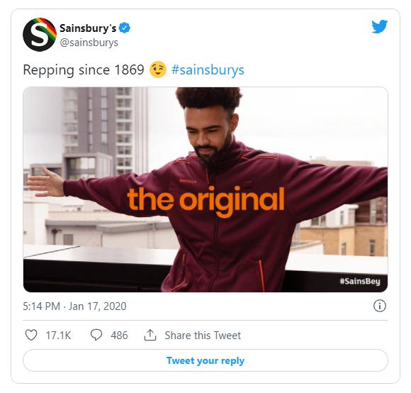Sainsburys reactive social media post