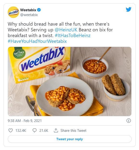 weetabix reactive social post